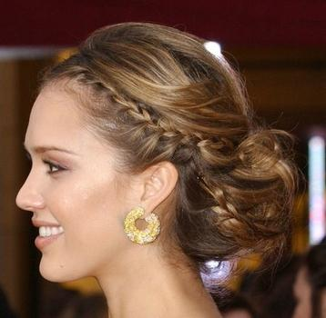 Prom braided hairstyle