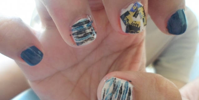 Nail Art Saturdays: Navy Art Attack